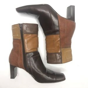 APOSTROPHE Midtown Patchwork Boots Size 6